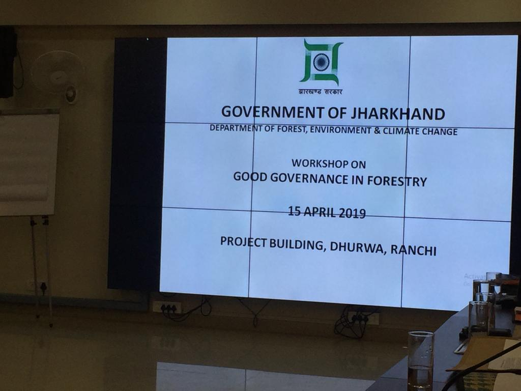 WORKSHOP ON GOOD GOVERNANCE IN FORESTRY